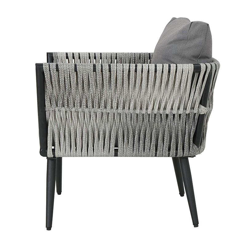 MG-ZY06休闲椅子户外编绳餐椅