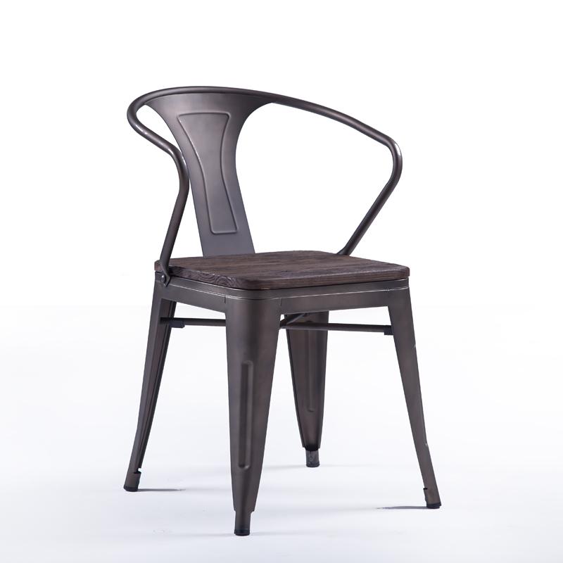 HXL-184椅子休闲塑木椅子铁椅子户外椅子