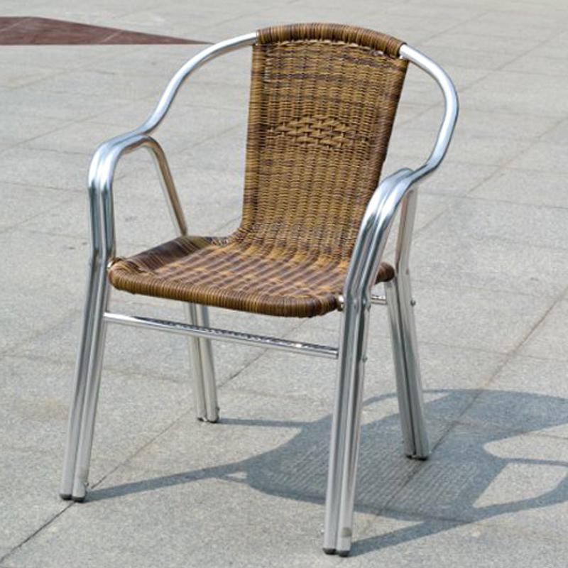 HXL-199椅子休闲铝合金编藤餐椅椅子