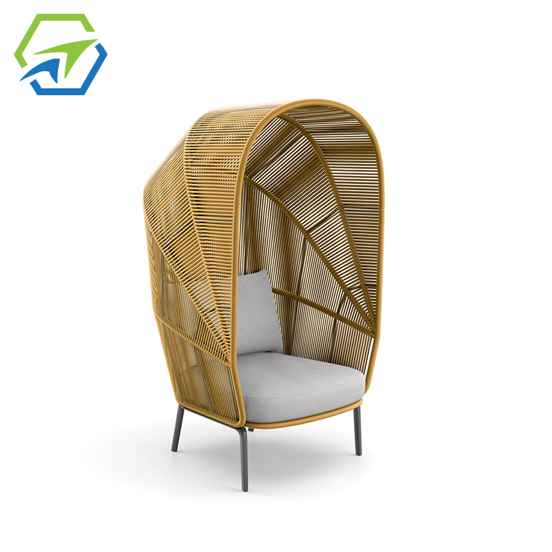 MG-D02 户外躺床阳台沙发休闲区庭院沙发圆床景观设计师躺椅
