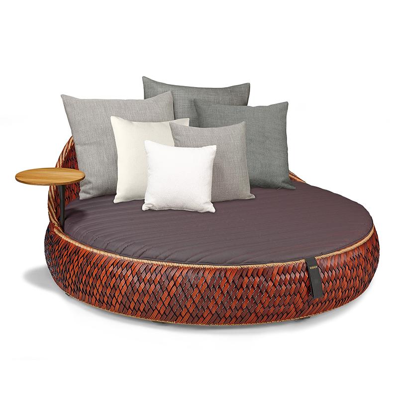 MG-12户外躺床躺椅藤编室外露天游泳池创意藤椅藤沙发酒店高端躺床定制