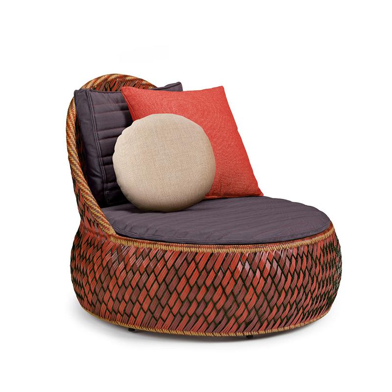 MG-D12沙发藤编户外庭院阳台休闲区躺床 度假村别墅花园懒人沙发床沙滩躺椅