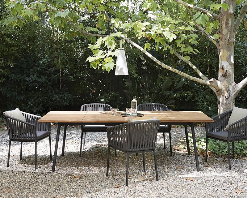 MG-Z016餐椅餐桌北欧户外家具餐桌椅组合设计师编绳椅单人庭院室外露台阳台休闲椅