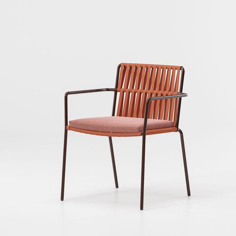 MG-L156椅子 设计师新款编绳椅子铝合金框架