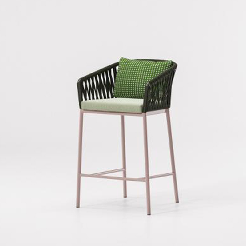 MG-L159吧椅 设计师新款编绳吧椅户外室内通用