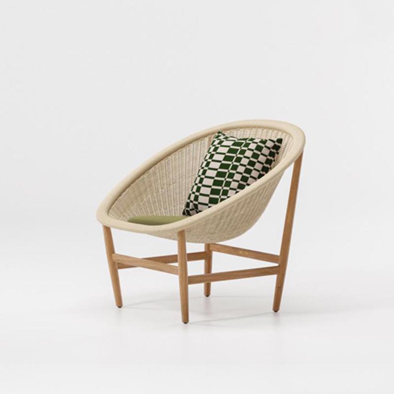 MG-160单人位休闲椅 设计师新款柚木编藤沙发