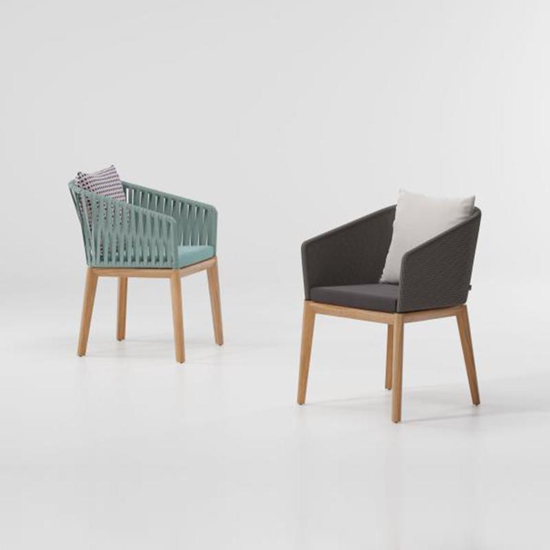 MG-L161 椅子 新款柚木编绳餐椅餐桌