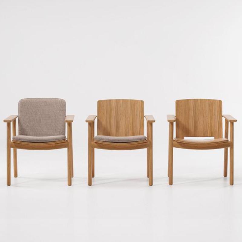 MG-L163椅子 新款设计师柚木餐椅户外餐椅