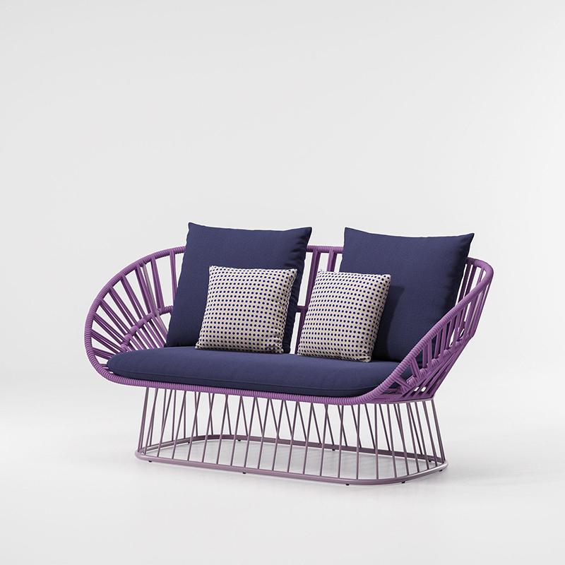 MG-L173沙发 新款休闲椅编绳高档沙发套装