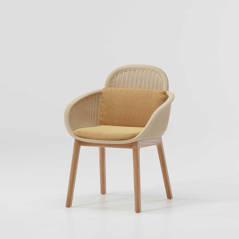 MG-L175餐椅 新款户外柚木编藤椅子