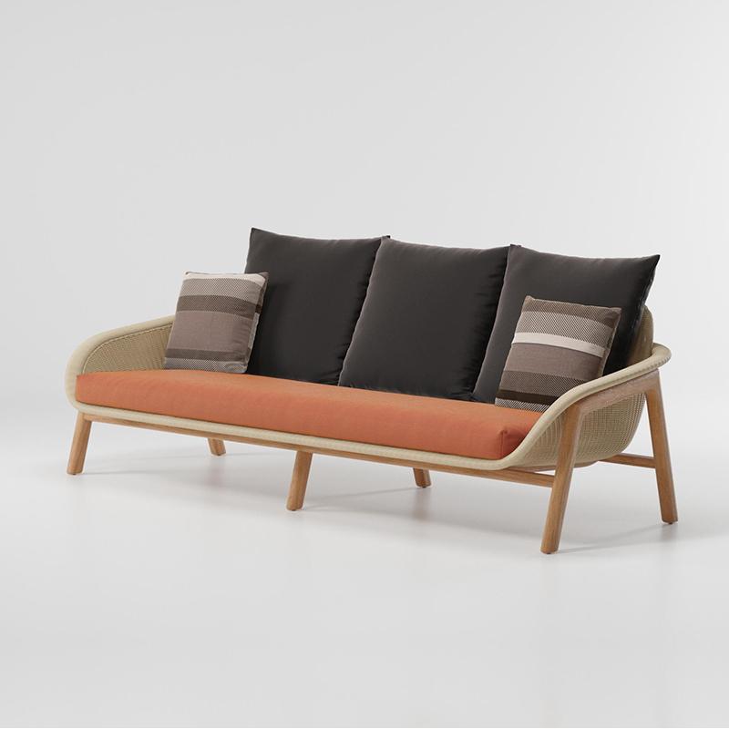 MG-L176沙发 新款柚木编藤沙发套装