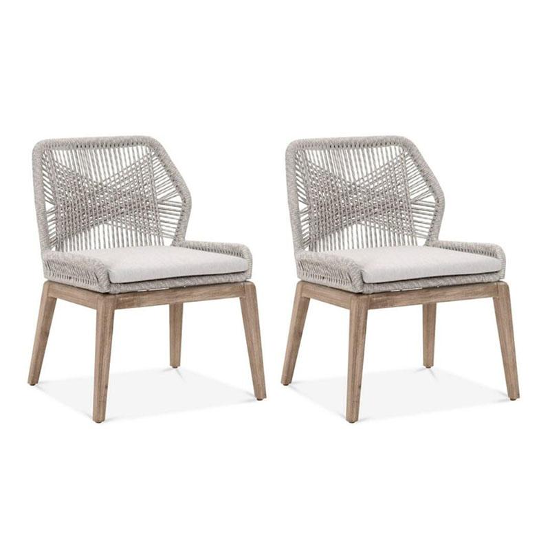 MG-L181椅子 新款柚木编绳餐椅高端尺寸可定制
