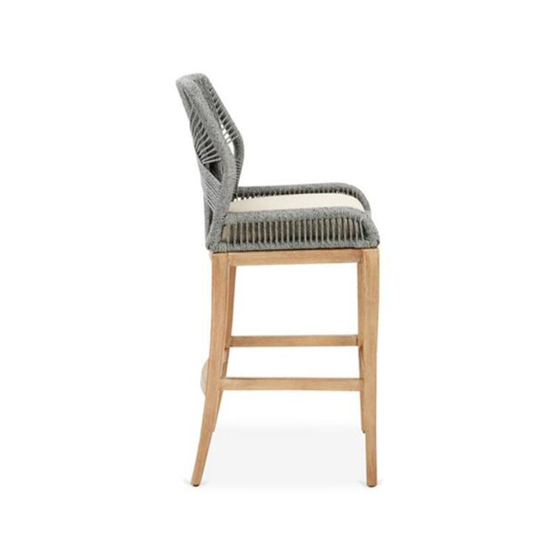 MG-L182吧椅 新款柚木户外编绳吧椅