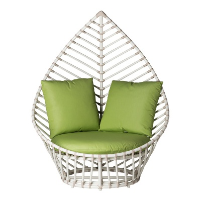 MG-L186休闲沙发 五星级酒店样板房新款编藤单人位休闲椅高背定制款