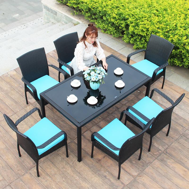 MG-Z01 户外藤制餐桌椅 餐桌餐椅