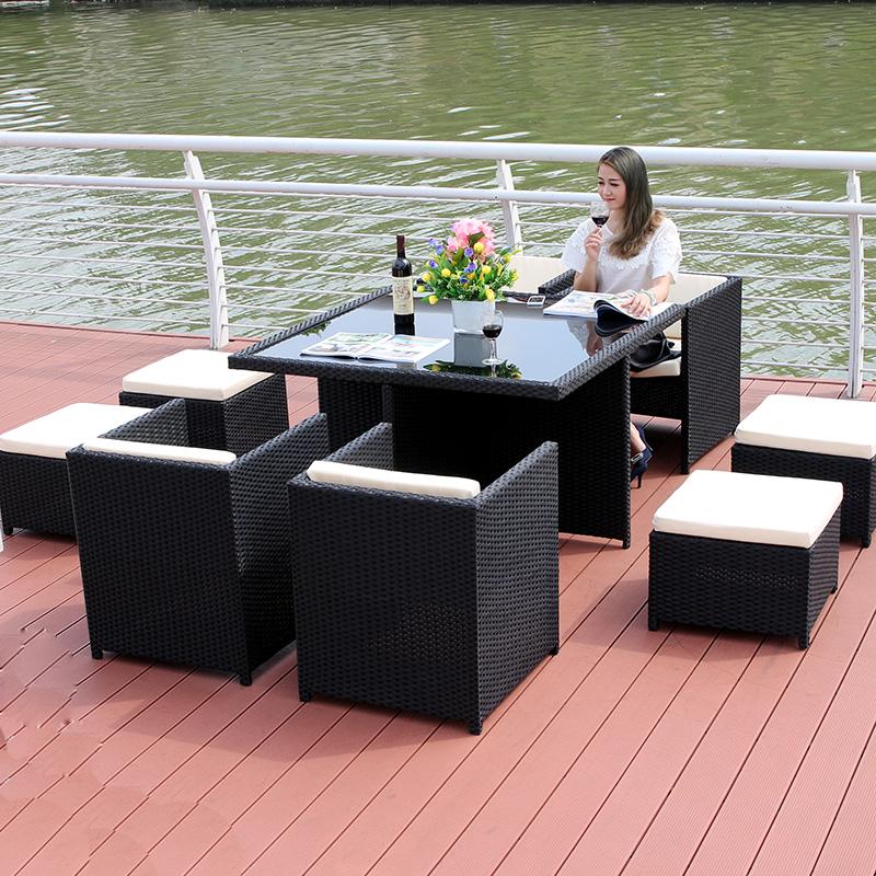MG-Z11藤椅庭院户外桌椅组合室外