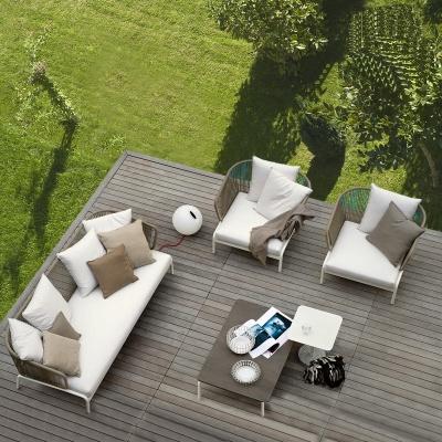 MG-S03 Sofa 5 star hotel project sofa Rope weaving Aluminum Frame