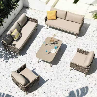 MG-S06 Sofa In stock luxury rope garden sofa set outdoor furniture
