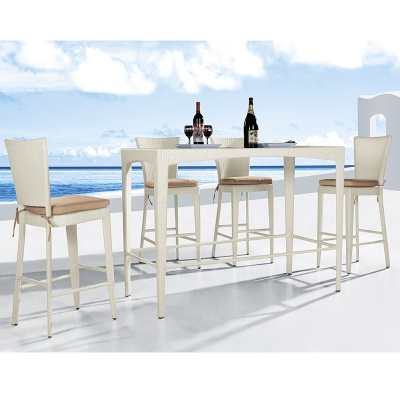 HXL-Z084 Outdoor PE High Table and Chair Rattan Bar Set