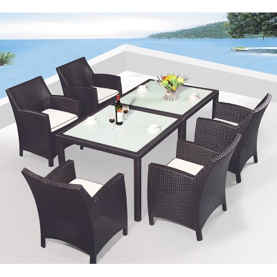 HXL-Z102 All weather aluminum outdoor dining table set garden furniture