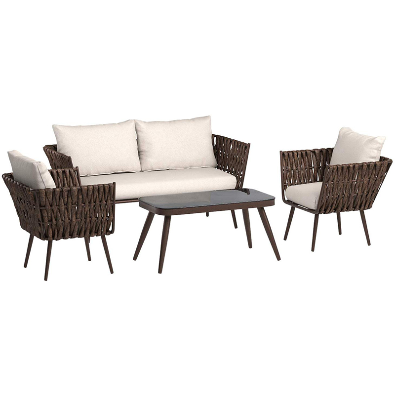 MG-SA01 Wicker Rattan Garden Set Indoor Outdoor Sofa Lounge couch Setting Furniture