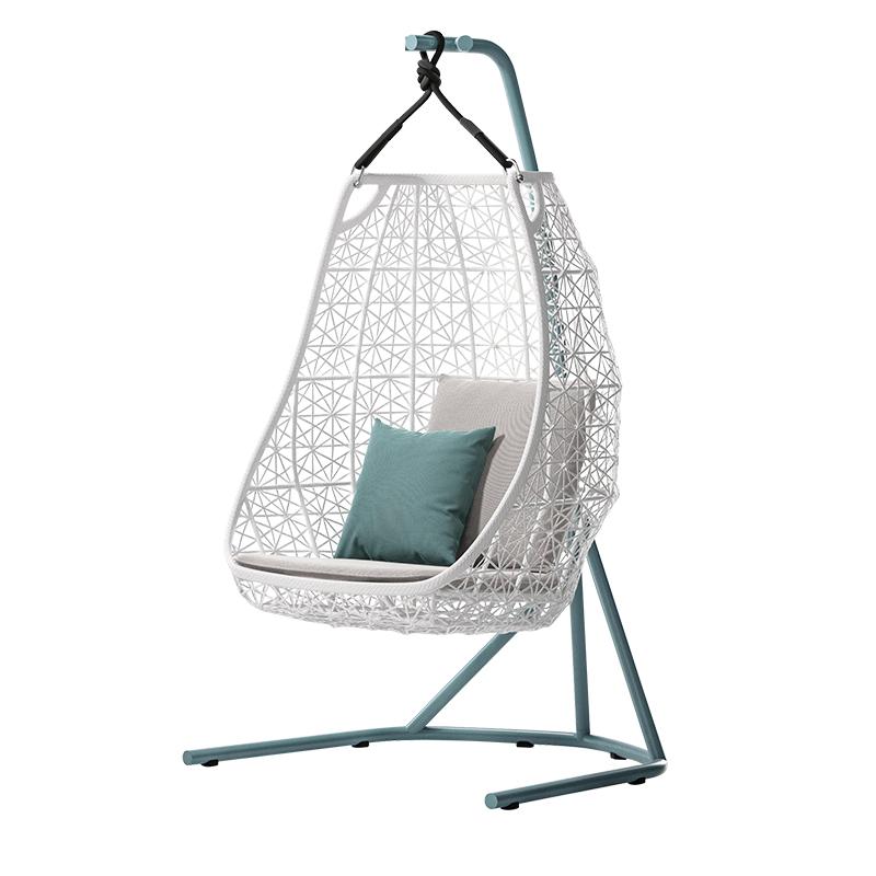 MG-D01 Swing Custom modern outdoor furniture metal Designer hanging swing chair