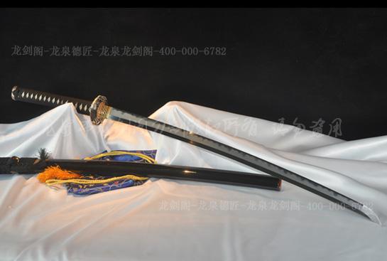 结城秀康武士刀-本三枚烧刃