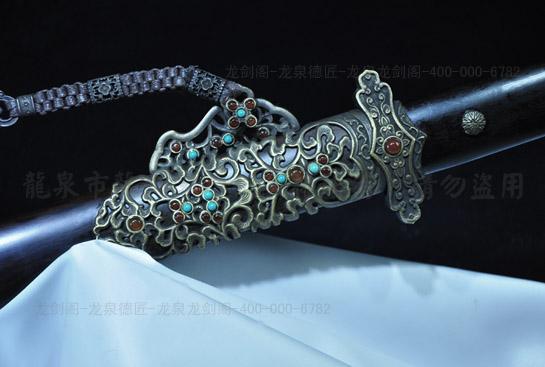 豪华精装唐剑-百炼花纹钢