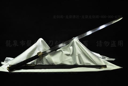 铜装双槽汉剑-T10钢烧刃