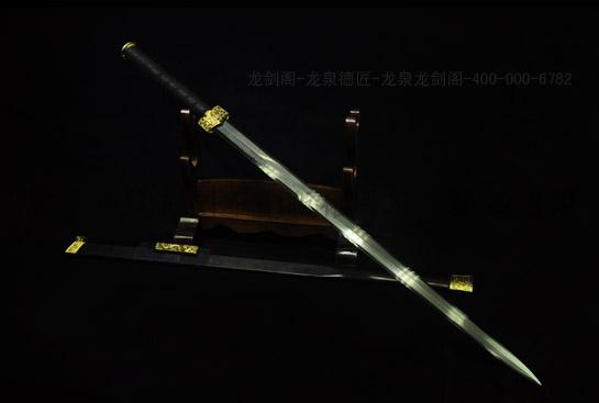 亮铜八面汉剑-花纹钢