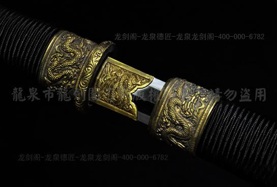 专利作品·龙装环首汉剑-百炼花纹钢