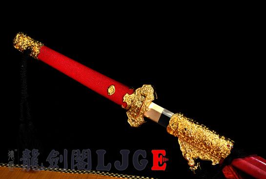 镀金豪华唐刀-扭转百炼钢烧刃