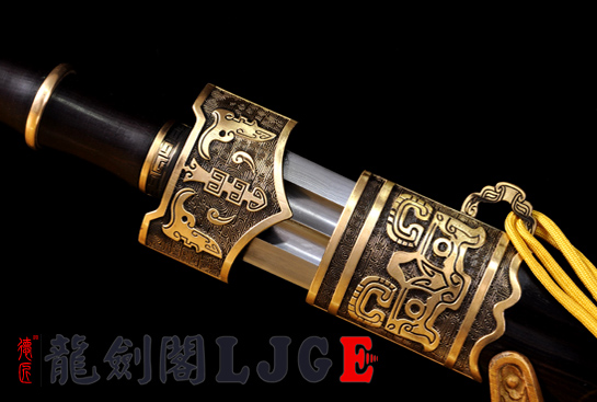 精装越王剑-百炼花纹钢
