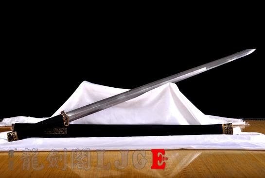 扁柄八面战国剑-百炼钢