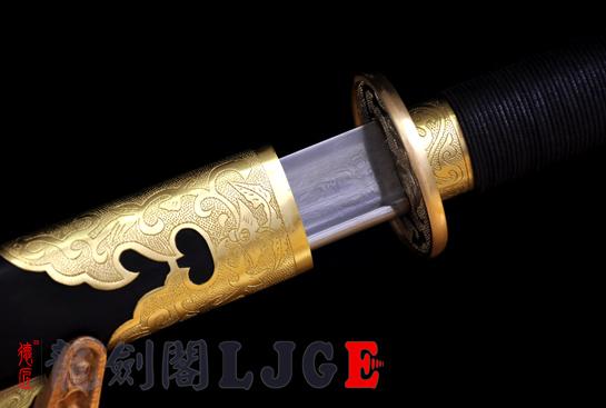 平雕苗刀-百炼钢