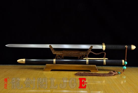 新简装唐剑-百炼花纹钢