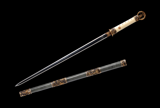 专利作品·金奖匠心剑-精炼羽毛钢