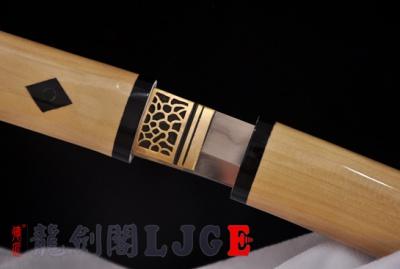 牛角木装打刀-三枚合(夹钢)