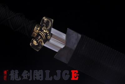 铜装环首刀-百炼钢烧刃