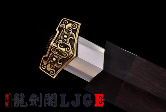 复古八面汉剑-夹钢(三枚合)