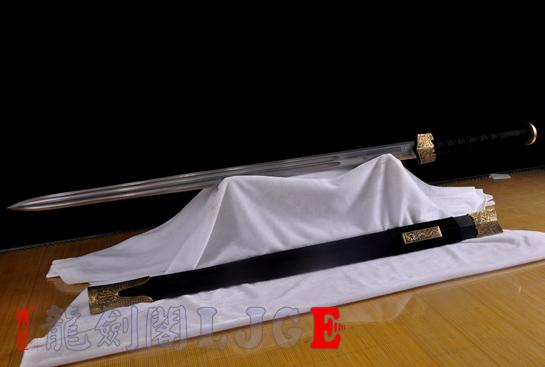 新装仿古八面汉剑-百炼花纹钢