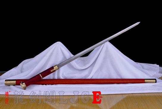 红木手杖剑-百炼钢