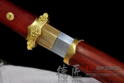 亮铜简装唐刀-百炼钢烧刃