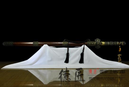 铜柄新唐剑-百炼钢烧刃