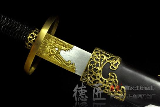 镂空清官刀-百炼花纹钢