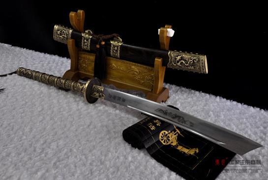 康熙御刀-百炼花纹钢