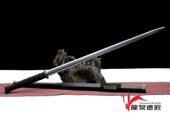 金奖作品—德匠素铁汉剑-羽毛钢