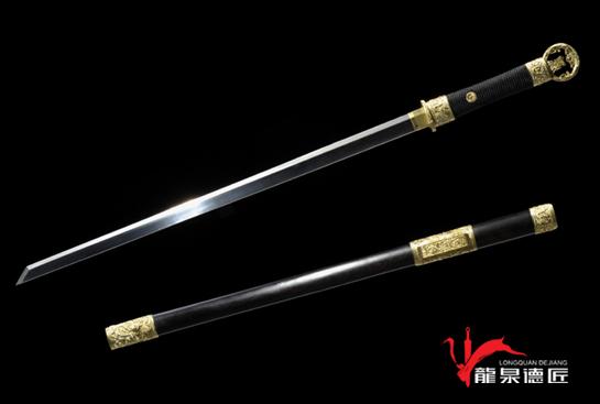 专利作品·龙装环首唐刀-T10钢烧刃