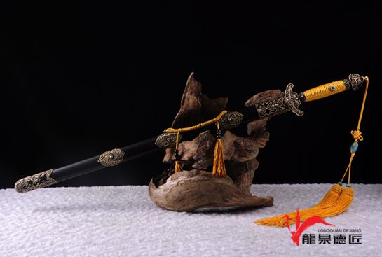 专利作品·高级别职官佩剑-羽毛钢烧刃
