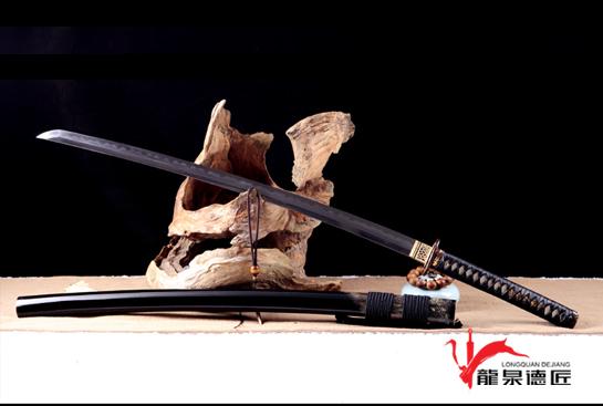 精品武藏打刀-地肌精炼钢